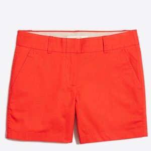 J. Crew Factory Broken In Chino Cotton Shorts 0
